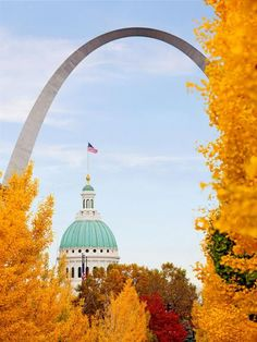 Take a scenic drive; explore a city, state or national park; or wander the tree-shaded streets of a small town to enjoy fall getaways in the Midwest. Oh The Places You'll Go, Places To Visit, Wisconsin, Michigan, Gateway Arch, St Louis Mo, Of Montreal, Trip Planning, Nebraska