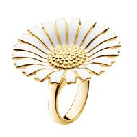 DAISY gold plated ring by Danish designer Georg Jensen Wedding Nail Colors, Wedding Nails Design, Elegant Nail Designs, Elegant Nails, Pink Oval Nails, Faded French Manicure, Daisy Ring, Evil Eye Jewelry, Gold Plated Rings