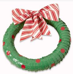 'Duck' the Halls this Christmas...Make this Duck Tape Wreath!