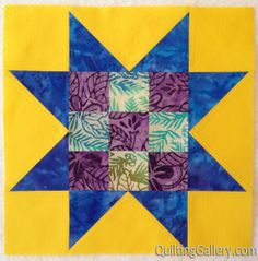 Lesson 2, Block 24 for the Delightful Stars Quilt-Along Come join us!  http://quiltinggallery.com/2014/01/28/ds-qal-lesson-2-block-24/