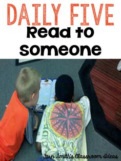 Daily Five ~ Partner Reading, Read with Others, Pair Share, Read with a Friend… Reading Fluency, Reading Strategies, Teaching Reading, Teaching Ideas, Learning, Reading Tips, Reading Centers, Reading Resources, Daily 5 Reading