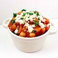 Marokkaans stoofpotje met zoete aardappel en kikkererwten, super gemakkelijk snel en gezond op Kokerellen