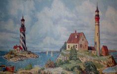 Nautical Lighthouse Wallpaper Border For Bathrooms ~ http://lanewstalk.com/wallpaper-borders-for-bathroom/