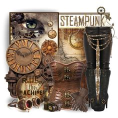"""""""Steampunk Rebel"""" by casuality on Polyvore"""