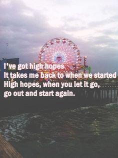 high hopes - kodaline