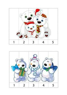 Winter Activities For Toddlers, Christmas Activities For Kids, Preschool Christmas, Toddler Activities, Numbers Preschool, Preschool Crafts, Preschool Transitions, Penguins And Polar Bears, Polo Norte