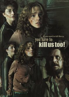 """If you're going to kill Harry, you have to kill us too."" - Harry Potter Friendship"