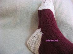 Meia de tricô Crochet, Christmas Stockings, Slippers, Socks, Knitting, 1, Ice Cream, Fashion, Knitted Slippers