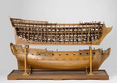 Model of a Ship, anonymous, after William May, 1784 - Rijksmuseum Model Sailing Ships, Model Ships, Model Ship Building, Boat Building, Ship In Bottle, Hms Victory, Old Boats, Wooden Ship, Submarines