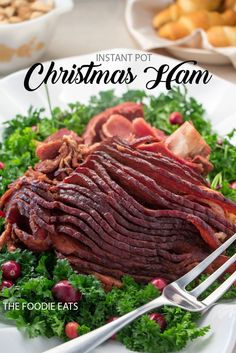 It's the most wonderful time of the year! And our dinner table will be featuring this Instant Pot Christmas ham. Probably on Thanksgiving too - lol!