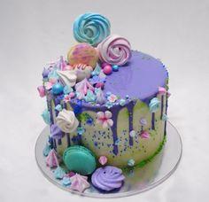 Pretty Cakes, Cute Cakes, Yummy Cakes, Pastel Cakes, Colorful Cakes, Cake Cookies, Cupcake Cakes, Drippy Cakes, Decoration Originale