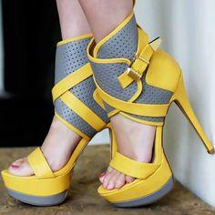 Open Toe Platform Stilettos