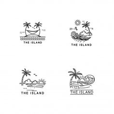 Discover thousands of Premium vectors available in AI and EPS formats Surf Drawing, Beach Drawing, Surf Design, Mini Drawings, Cool Art Drawings, Deco Surf, Island Tattoo, Doodle Lettering, Simple Doodles