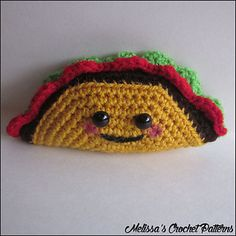 Happy Little Taco - free crochet pattern by Melissa's Crochet Patterns.