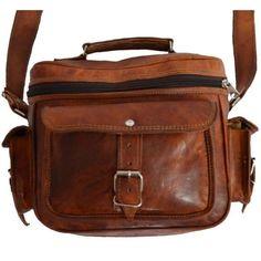 Crossbody Goat Leather Camera Bag