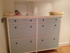 IKEA Hackers: Wedded Hemnes Shoe Cabinets [Twined and Painted]