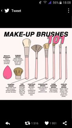 There are a lot of people who nowadays are applying cosmetics using their fingers, in my opinion it looks a lot better if applied using a make-up brush. This article describes the reasons for this and looks at the types of make-up bru Makeup 101, Makeup Tricks, Makeup Looks, Eye Makeup, Hair Makeup, Makeup Ideas, Brown Makeup, Makeup Hairstyle, Asian Makeup
