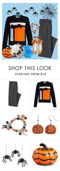 """""""Happy Halloween"""" by dickensfan ❤ liked on Polyvore featuring Lands' End, MSGM, Meri Meri, Improvements and Halloween"""