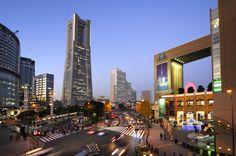 みなとみらい 桜木町 クロスゲート ランドマークタワー 夕焼け サンセット 横浜 sunset