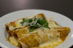 These Swiss-style enchiladas are a bit richer than the usual suspects.