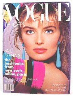 US Vogue July 1987 : Paulina Porizkova by Richard Avedon Vogue Magazine Covers, Fashion Magazine Cover, Fashion Cover, Richard Avedon, 1980s Fashion Trends, Vintage Vogue Covers, Magazin Covers, Paulina Porizkova, Magazine Mode