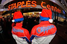 Clippers vs. Warriors Christmas Day Staples Center #clippers #warriors