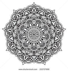 Mandala. Round Pattern   Stock Vector