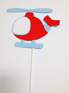 Airplane Cake Topper Helicopter Cake Topper by DKDeleKtables