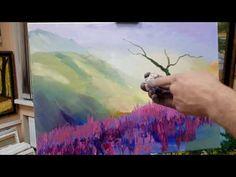 Урок живописи маслом. Простая картина с деревом - YouTube