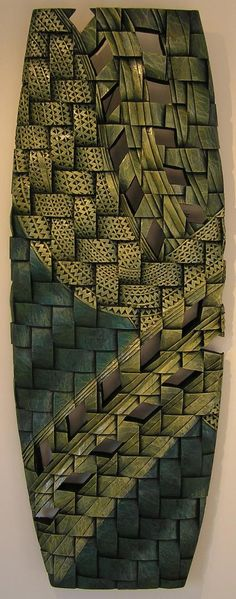 maori carved surf board - Aaron Kereopa