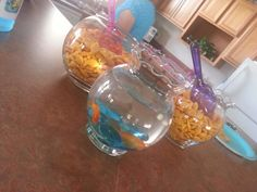 Goldfish Bowls for Little Mermaid Party