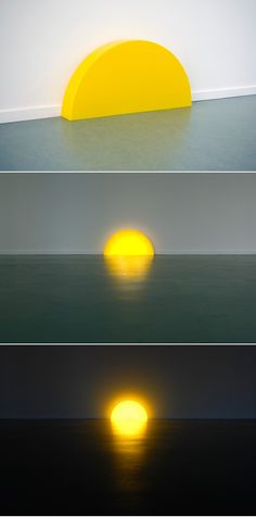 Skirting Board Sunset, 2008. Materials: perspex, led lighting Dimensions: L 10 cm W 75 cm H 38 cm Photos by Lotte Stekelenburg