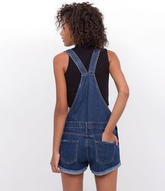 dfdb2ea75c Macacão Curto em Jeans - Lojas Renner