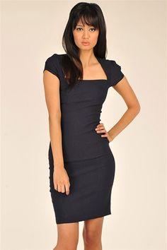 Business Meeting Dress - Navy
