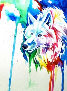 Sort of look old and hunched, if you know what I mean. I really like these rainbow things, in case you didn't notice. :)  Rainbow Wolf 3 by Lucky978.deviantart.com