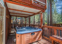 Luxurious Hot Springs hot tub, protected from snow and sun