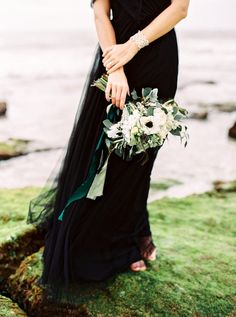 black tulle bridesmaids dress | Annabelle Dress by Jenny Yoo from BHLDN