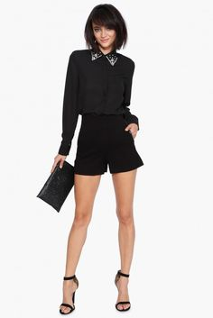 Gemma Blouse in Black | Necessary Clothing