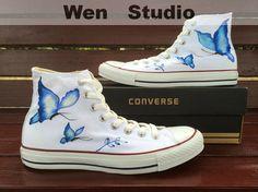 I Love Design Butterfly Converse Custom Butterfly by WenWenStudio, $79.00