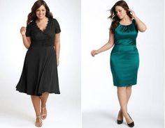 Vestidos de festa plus size de cintura marcada – Nordstrom Verão 2011 [9]