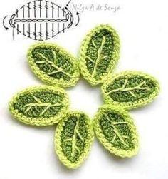 Подборка схем для вязания листиков крючком (Вязаные цветы)