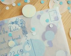 DIY these polka dot-filled save-the-dates for a NYE bash.