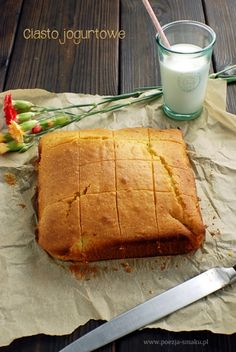 Ciasto jogurtowe (Yogurt Cake - recipe in Polish) Yogurt Cake, Tart, Cake Recipes, Pie, Dishes, Ethnic Recipes, Sweet, Polish, Desserts