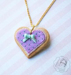 Heart Shaped Cookie by colourful-blossom on DeviantArt Cute Polymer Clay, Fimo Clay, Polymer Clay Charms, Polymer Clay Creations, Handmade Polymer Clay, Biscuit, Heart Shaped Cookies, Cold Porcelain, Clay Crafts