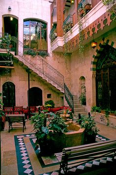 Martini dar Zamaria, Aleppo, Syria. Great Uncle's hotel.