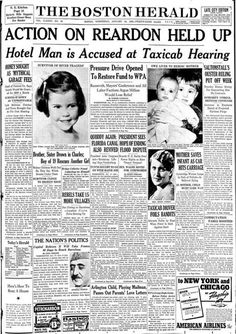 One of the newspapers Dorothy Steele kept (depicting her and her brother) from the 1939 accident.