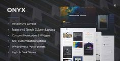 Download and review of Onyx - Responsive WordPress Blog Theme, one of the best Themeforest Magazine & Blogs themes