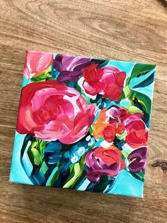 Easy Flower Painting Tutorials by artist Elle Byers. Learn how to paint simple abstract flowers with acrylic paint. Step by step video instructions. Flower painting for beginner artists! Easy Flower Painting, Acrylic Painting Flowers, Acrylic Painting For Beginners, Acrylic Artwork, Acrylic Painting Techniques, Abstract Flowers, Acrylic Painting Canvas, Floral Paintings, Paint Flowers