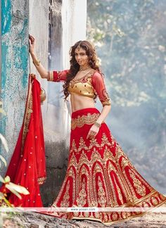 #Yosari Picturesque Net Embroidered Work A Line Lehenga Choli  Model: YOLEN1034