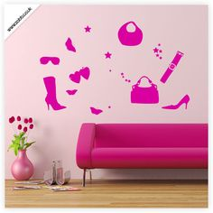 Shoply.com -Shopping fashion hand bag vinyl wall sticker - Perfect for laptops, cars, walls and windows. Only £1.99